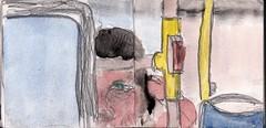 so weit die Monatskarte ihn trug und dann zu Fu weiter und immer weiter (raumoberbayern) Tags: city winter bus fall pencil paper munich mnchen landscape herbst tram sketchbook stadt papier landschaft bleistift robbbilder skizzenbuch strasenbahn
