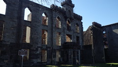 Ruins of Smallpox Hospital on Roosevelt Island, NYC - IMGP4192 (catchesthelight) Tags: skyline buildings manhattan ruin bluesky views rooseveltisland gothicrevival newyorkcityny springvisit april2016 thesmallpoxhostpital wwwtheruinorg