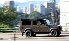 Land Rover, Defender, Hong Kong (Daryl Chapman Photography) Tags: auto china road windows hk cars car photoshop canon photography hongkong eos drive is nice automobile driving power wheels engine fast automotive headlights gas daryl ii brakes 5d british pan petrol autos grip rims panning landrover f28 hkg fuel sar drivers horsepower chapman defender topgear mkiii bhp 70200l cs6 worldcars darylchapman dl609