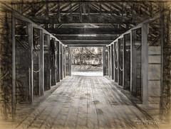 All's Quiet (ZWQphotos) Tags: ranch wood roof horses barn sketch chains floor farm alberta stable baru