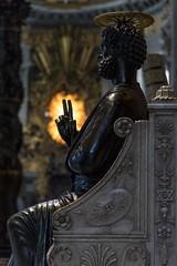 Benedicat (JWY80) Tags: travel italy rome roma statue nikon catholic d750 sanpietro stpeter lazio pietro 24120mm latium avemariauniversity