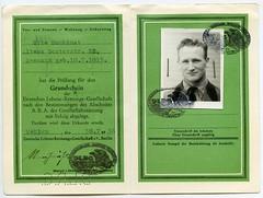 (Kaopai) Tags: 1936 dlrg pass passport passbild ausweis wohlau kennkarte deutschelebensrettungsgesellschaft sunkimat grundschein leistungsschein