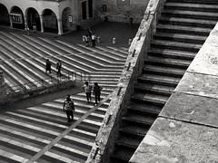 Stairs (Turi Distefano) Tags: italy lines stairs geometry assisi walkingmen