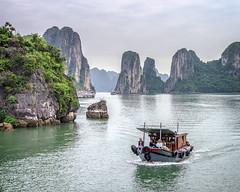 Ha Long Bay, Vietnam (Bolin27) Tags: travel sea green water ferry islands bay boat long vietnam limestone serene ha halong islets
