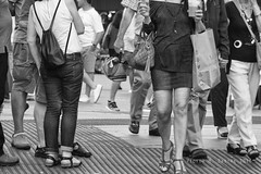 Gento (Vctor M. Sastre) Tags: madrid street city people urban blackandwhite bw woman streets blancoynegro monochrome shopping town mujer spain gente crowd ciudad urbano calles compras monocromtico gento