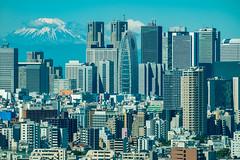 One mount to rule them all (skweeky ) Tags: building japan skyscraper tokyo shinjuku fuji center mount civic nippon japon edo fujiyama