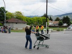 Shopping cart maneuvers (jamica1) Tags: canada shopping bc okanagan may columbia days parade british kelowna rutland cart