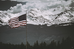 20.20 (WestonEyes) Tags: wild panorama snow mountains ice landscape colorado mark flag tamed rugged conquered westoneyes