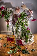 GET IN!! OH, GET IN!!! (D-W-J-S) Tags: flowers flower fisheye tokina montypython dp python mallet arrangement hdr monty gumby flowerarrangement arranging 1017mm