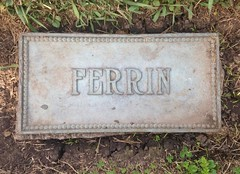 Ferrin (Stewf) Tags: cemetery r e gravestone lettering serif highwaisted mountainviewcemetery condensedserif