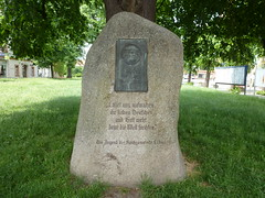 Lbau: Lutherstein (SebastianBerlin) Tags: monument germany saxony martinluther sachsen luther 1933 denkmal 2016 lausitz  oberlausitz 1483 lbau  upperlusatia bahnhofstrase lutherstone    promenadenring  lutherstein