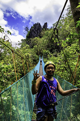 El Nido's Canopy walk (julesnene) Tags: travel cliff nature rock southeastasia paradise philippines adventure domes rockclimbing karst elnido palawan jaggededge topography canopywalk lastfrontier limestonecliffs julesnene juliasumangil canon7dmarkii canon7dmark2 elnidoscanopywalk