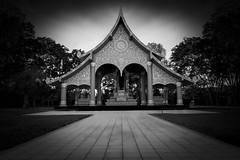 The Pagoda (fredMin) Tags: travel white black monochrome thailand temple fuji buddhism fujifilm xt1 fuijinon