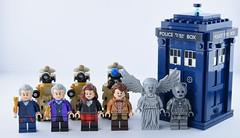Lego Doctor Who universe (Alex THELEGOFAN) Tags: lego doctor who dimensions dalek statue cyberman tardis clara watson
