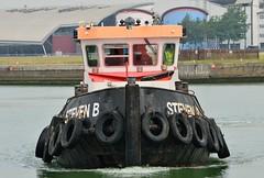 Steven B (7) @ KGV Lock 11-06-16 (AJBC_1) Tags: uk england london boat ship unitedkingdom vessel tugboat tug pontoon eastlondon nikond3200 northwoolwich newham royaldocks aggregateindustries londonboroughofnewham kinggeorgevdock stevenb kgvdock dlrblog londonsroyaldocks livettsgroup ajc