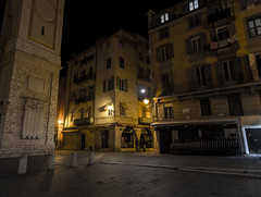 Place Rossetti After Hours (lncgriffin) Tags: longexposure nightphotography travel france architecture zeiss nice nikon europa europe campanile d750 oldtown nizza distagon vieilleville rpubliquefranaise placerossetti nicecathedral distagon2128zf