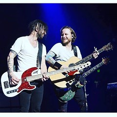 #Repost @shinedown: Mr. @ebassprod and Zmyersofficial... #shinedown #smile (ShinedownsNation) Tags: zach eric bass nation smith barry brent myers shinedown kerch shinedowns