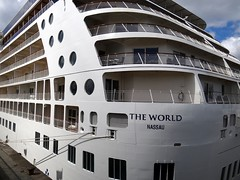 """The World"", largest luxury residential cruise ship in the world, Antwerp docked (jackfre2) Tags: port ship belgium cruiseship antwerp residential luxury theworld cruiseterminal largestintheworld"