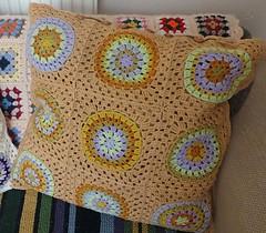squaring the big circle (pacific_rin) Tags: crochet granny cushion