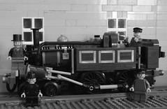 Metropolitan Railways A Class Locomotive (Ug the Pug) Tags: city england london english train underground subway track lego metro district tube engine rail railway loco hammersmith steam locomotive 440 metropolitan aclass