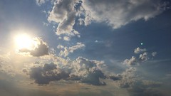 Clouds and sun () Tags: blue summer sky cloud yellow clouds freedom amazing