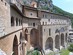 """Monastery of """"Sacro Speco"""" (=Holy cave) of Saint Benedict (end 13th century) - Subiaco (Rome) (* Karl *) Tags: italy rome monastery subiaco saintbenedict holycave"""