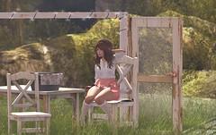 Velit Set for Tres Chic (Pamela Igalies / Bokeh) Tags: wood table chair doors mesh bokeh sl event secondlife virtual tres chic exclusive doorframe washbasin treschic originalmesh bokehstore