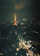 untitled (millefeuillekun) Tags: tokyotower fujifilm nikomat xtra400