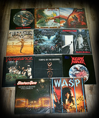 Metal thrift goodies... (harrycobra) Tags: records metal vinyl thrift find
