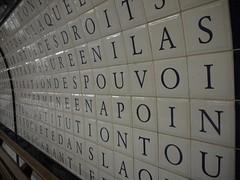 Constitution in Concorde (crystalseas) Tags: paris metro text writing concorde constitution