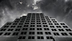 Hanging Out Taking Photos Outdoors Built Structure Repetition Low Angle View Grid Faade Building Exterior Clouds And Sky Black And White Noir Et Blanc (hydequinn) Tags: hangingout takingphotos outdoors builtstructure repetition lowangleview grid faade buildingexterior cloudsandsky blackandwhite noiretblanc