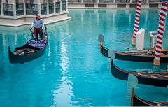 Gondola Rides (Abhijit B Photos) Tags: blue italy hotel boat italian bluewater indoor romantic gondola venetian gondolier casinohotel gondolarides
