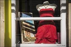 Red dress in the window (zolaczakl ( 2 million views, thanks everyone)) Tags: bristol stokescroftscenes stokescroft red reddress shopwindow mannequin painting phototakenthroughawindow photographybyjeremyfennell nikond7100 sigma1835mmf18dchsmlens lightshadow uk england june 2016 southwest cityscenes