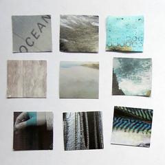 ocean colours (Carolyn Saxby) Tags: ocean blue sea white black beach mackerel sand rocks aqua squares mosaic turquoise patterns carolynsaxby