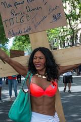 Marche des Fiertés (dprezat) Tags: street gay portrait people paris lesbian nikon contest protest lgbt homo gaypride trans fête bi marche manif manifestation d800 défilé 2016 lesbienne fierté transexuel marchedesfiertés nikond800