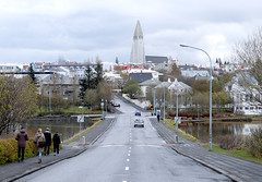road to hallgrmskirkja (jirfy) Tags: life road street city urban church iceland europe downtown cloudy capital central reykjavik nordic lutheran scandinavia hallgrmskirkja