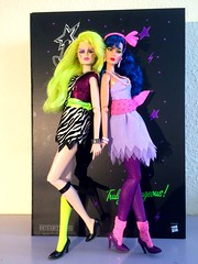 Pizzazz and stormer (trulytrulyoutrageous) Tags: fashiondoll pizzazz themisfits jemandtheholograms stormer integritytoys jemboy