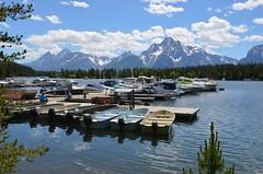 Mountain boating (afagen) Tags: favorite marina boat nps wyoming nationalparkservice grandteton jacksonhole colterbay grandtetonnationalpark jacksonlake