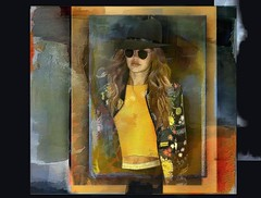 woman with sunglasses (skizo39) Tags: woman art colors sunglasses collage photomanipulation design colorful graphic digitalart creative digitalpainting layers graphical digitalmanipulation digitalprocessing