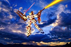 Mobile Support (BrickSev) Tags: fiction sunset sky japan landscape toy toys actionfigure photography japanese robot fight action battle science spirits robots actionfigures figure scifi sciencefiction collectible gundam unicorn figures collectibles mecha mechs mech bandai mechas toyphotography
