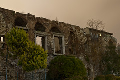 Romanic ruins (Bahanick --(Next upload: Istanbul shots)) Tags: camera blue original light tower art colors up look composition contrast turkey dark for reflex raw torre foto with arte bright image sofia good picture shapes istanbul palace mosque spices egyptian saturation su ottoman bazaar visual emotions per curiosity colori topkapi harem con luce bosphorus romanic minarets cistern forme sensation galata hagia riflesso moschea composizione scuro sensazioni immagine turchia emozioni suleymaniye chiaro bosforo tonality costantinopoli egizio bisanzio visivo solimano