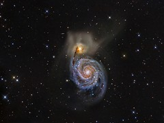 The Whirlpool Galaxy M51 (Terry Hancock www.downunderobservatory.com) Tags: camera sky monochrome night stars spiral photography mono pier back backyard fotografie photos thomas space shed science images astro apo m observatory telescope whirlpool galaxy astrophotography canes astronomy imaging messier ccd universe f8 cosmos technologies paramount 1012 luminance lodestar teleskop astronomie byo refractor deepsky f55 ngc5194 astrograph venatici autoguider starlightxpress astrotech ritcheychrtien tmb92ss mks4000 gt1100s qhy9m