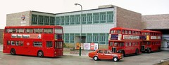 Brixton bus garage diorama (13) (kingsway john) Tags: london transport brixton bus garage model 176 scale card kit diorama kingsway models dms rt route 109 133 50 95 londontransportmodel oo gauge miniature