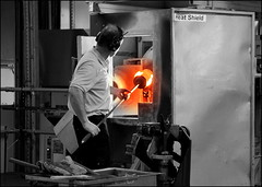 Glass making (catb -) Tags: ireland glass fire crystal heat kiln waterford fa waterfordcrystal