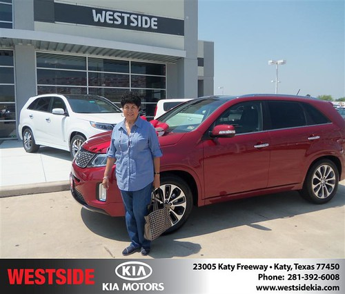 Westside Kia would like to say Congratulations to Daniel Perez on the 2014 Kia Sorento
