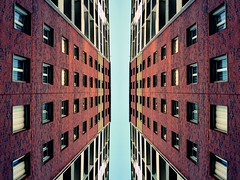 Eternity. (Mill(s) & NAJE) Tags: life street blue brown france color building window canon photography big nice build eternity immense bigger immeuble banlieue izi