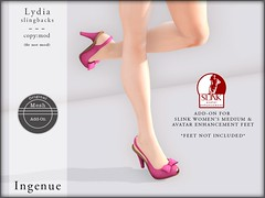 Ingenue :: Lydia Slingbacks (Betty Doyle) Tags: secondlife ingenue addon slink collabor88