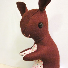 Bunny Softie Plush Toy 3 (sugar-cookie) Tags: brown cute rabbit bunny wool easter toy handmade chocolate craft plush softie vintagestyle