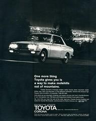 1969 Toyota Corona Advertising Hot Rod Magazine July 1969 (SenseiAlan) Tags: hot 1969 magazine advertising july corona toyota rod