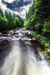 Foret Montmorency 6 (gsamie) Tags: longexposure trees sky canada water forest canon river landscape waterfall rocks quebec wideangle explore 600d explored foretmontmorency gsamie guillaumesamie